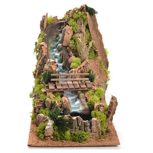 Cascata con fiume presepe 35x25x54 cm 1