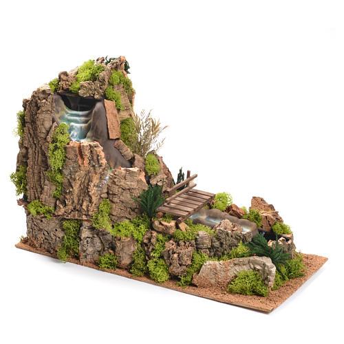 Cascata con fiume presepe 35x25x54 cm 3