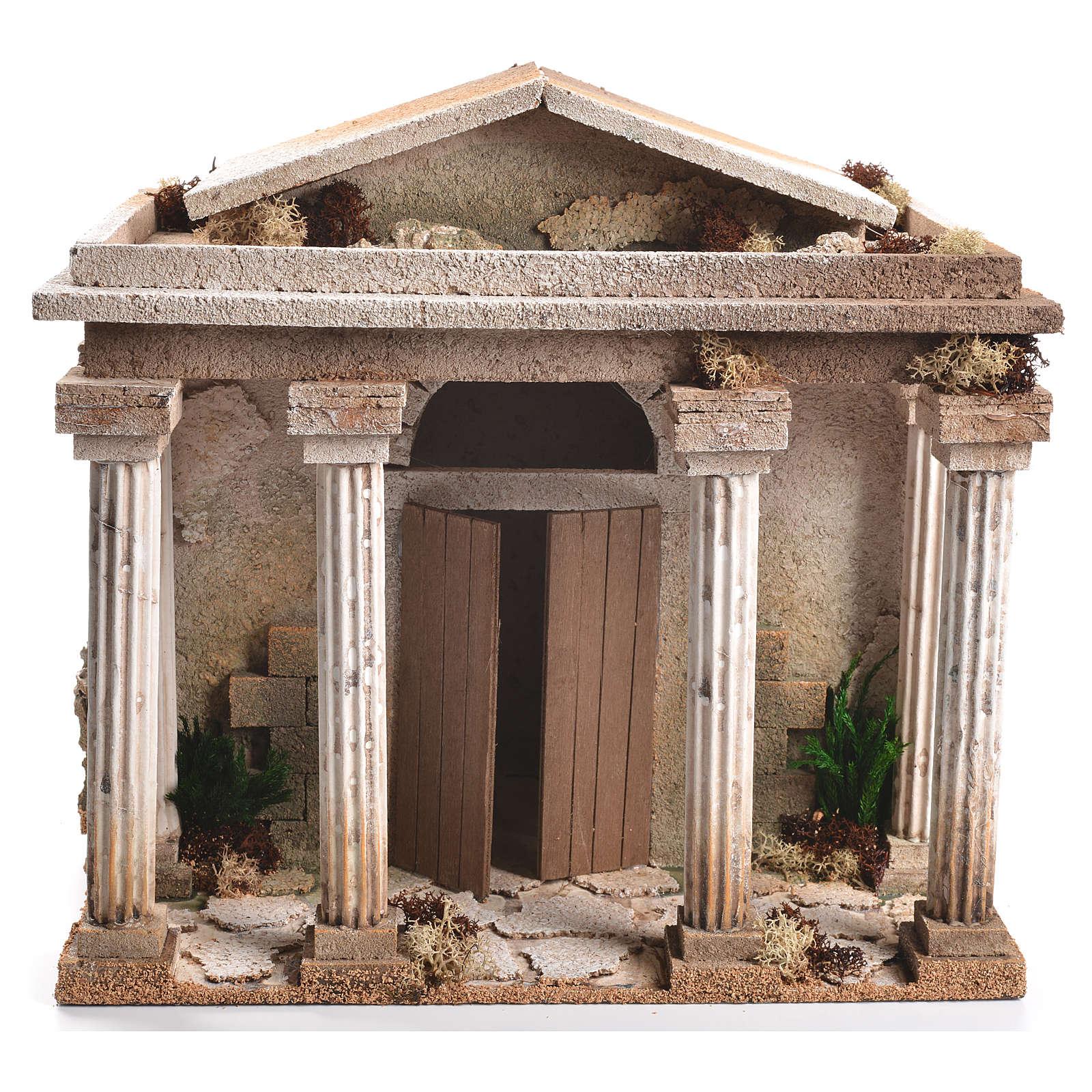 Tempio presepe 33x35x25 cm 4