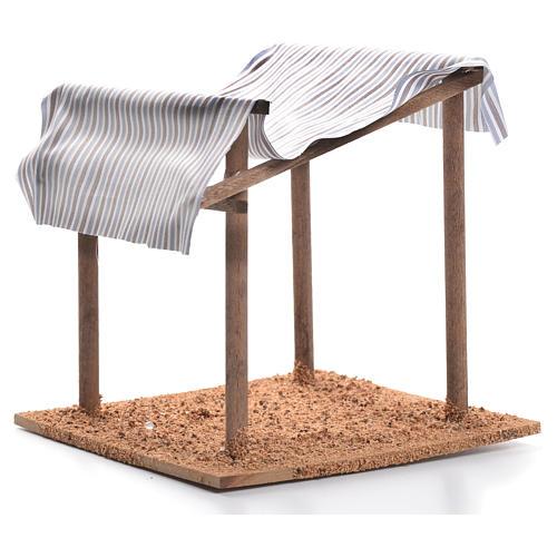 Tenda nel deserto presepe cm 16x15x15 2