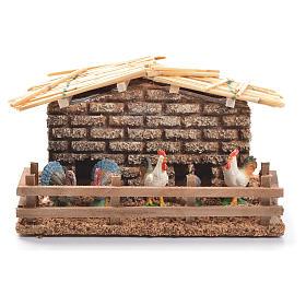 Hen house for nativities measuring 6cm s1