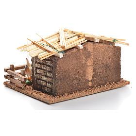 Hen house for nativities measuring 6cm s3