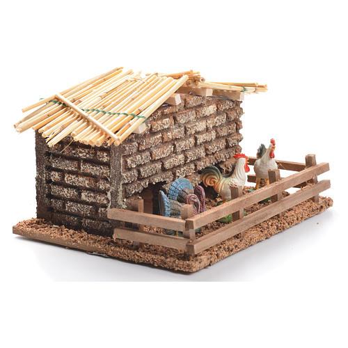 Hen house for nativities measuring 6cm 2