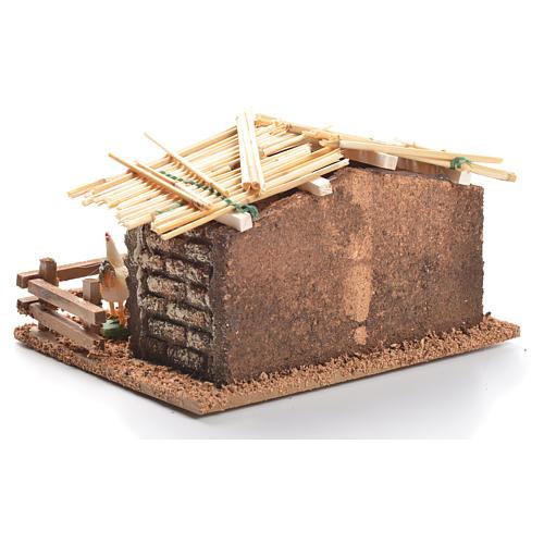 Hen house for nativities measuring 6cm 3
