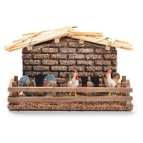 Hen house for nativities measuring 6cm s1