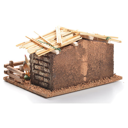 Hen house for nativities measuring 6cm 3