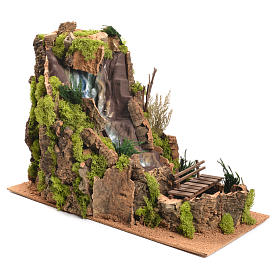 Nativity Scene setting, waterfall measuring 40x26x50cm s3