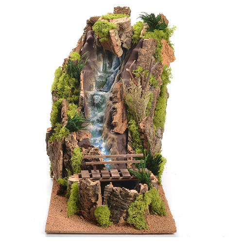 Nativity Scene setting, waterfall measuring 40x26x50cm 1
