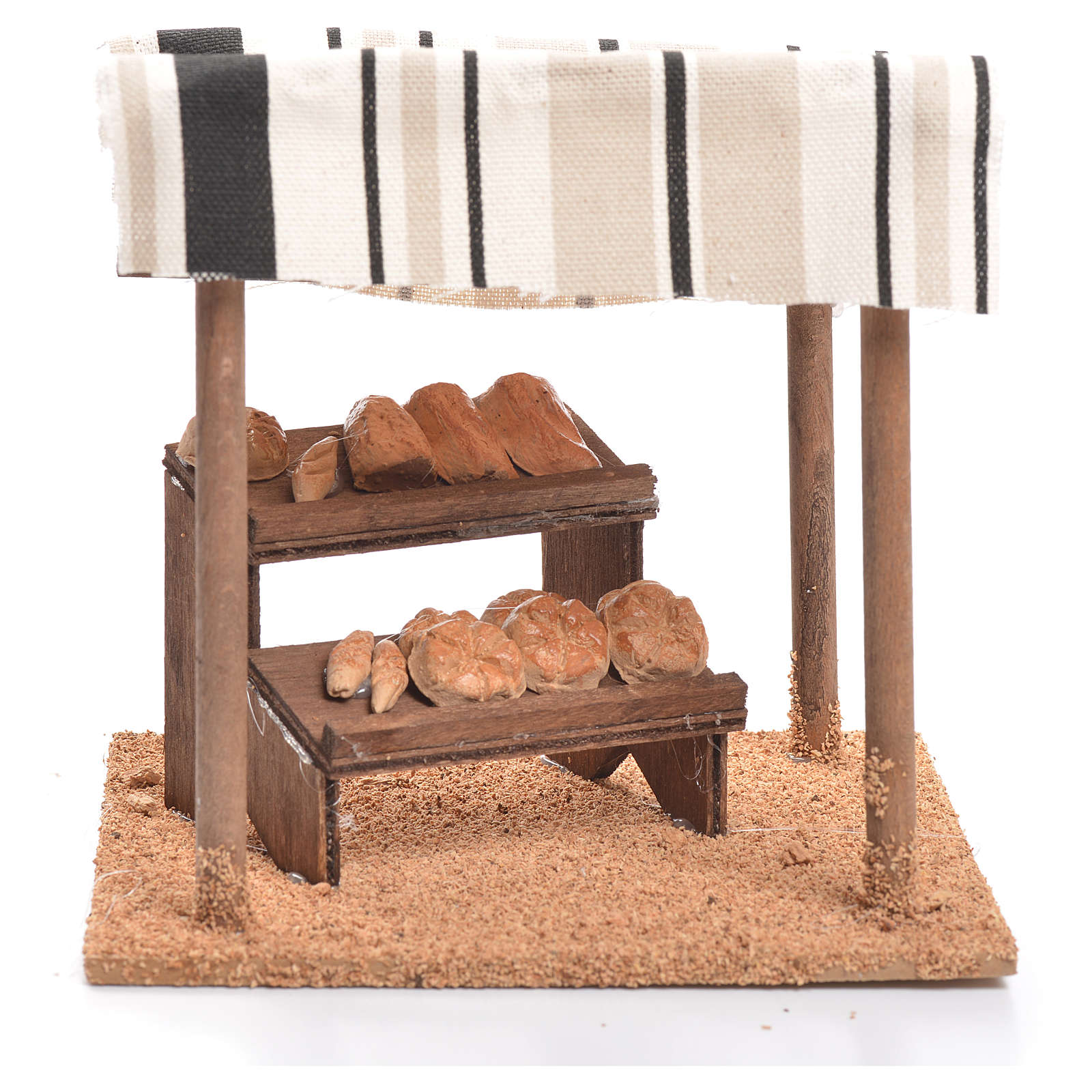 Arabian tent with bread for nativities measuring 10cm 4
