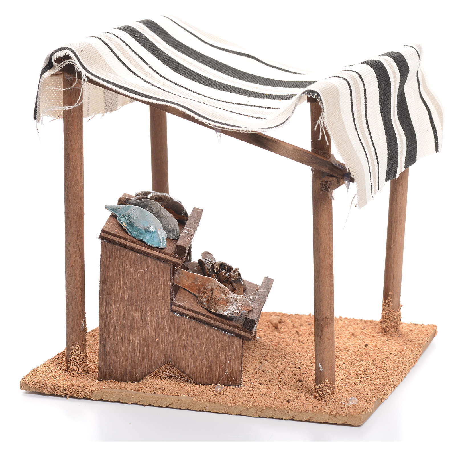 Arabian tent with fish for nativities measuring 10cm 4