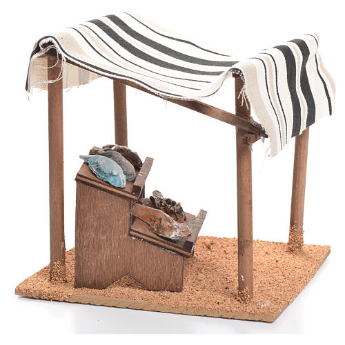 Arabian tent with fish for nativities measuring 10cm 2