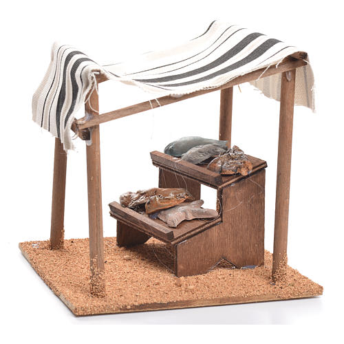Arabian tent with fish for nativities measuring 10cm 3