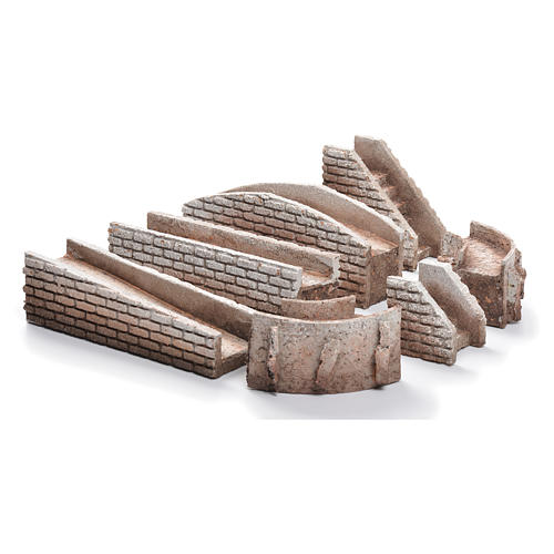 Bridges and stairs in cork for nativities set of 7 pcs 1