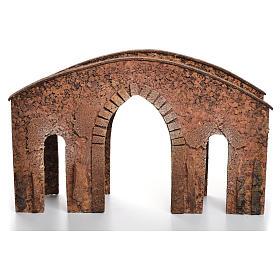 Bridge in cork for nativities measuring 25x40x12cm s3
