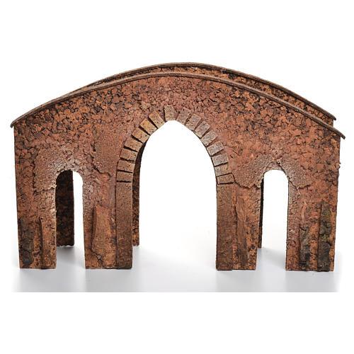 Puente belén corcho 25x40x12 cm 3