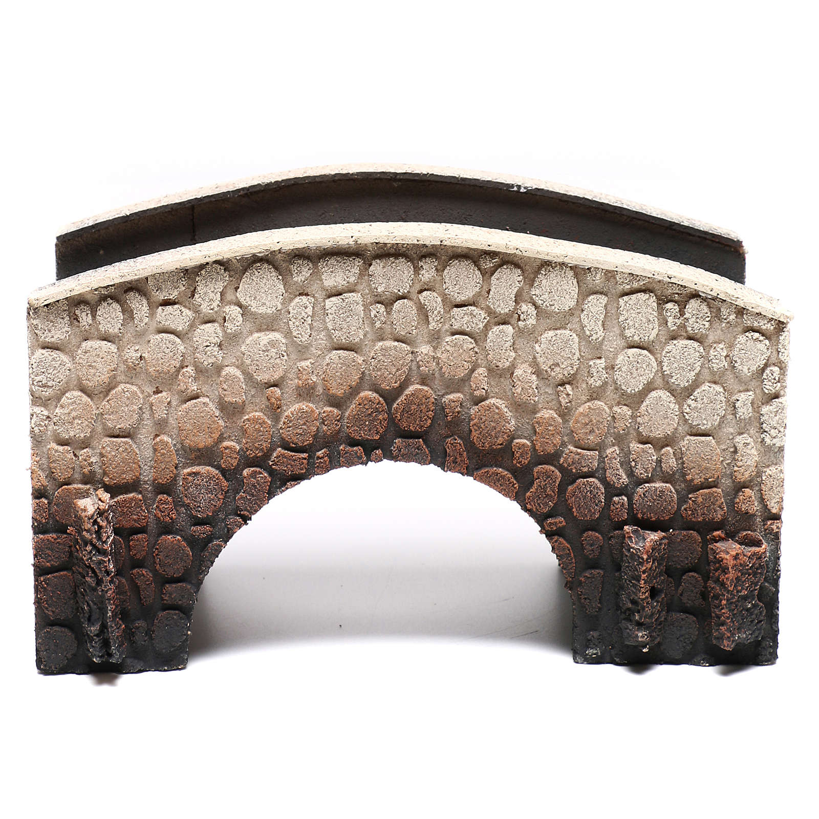 Bridge in cork, arched, for nativities 16x25x11cm 4