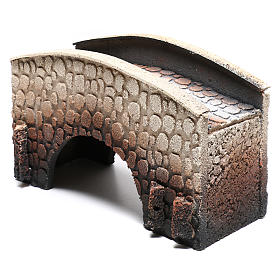 Bridge in cork, arched, for nativities 16x25x11cm s2