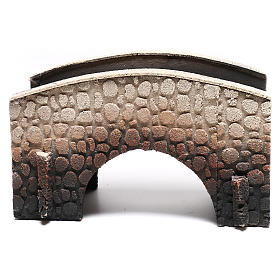 Bridge in cork, arched, for nativities 16x25x11cm s5