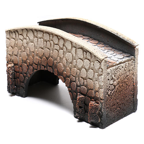 Bridge in cork, arched, for nativities 16x25x11cm 2