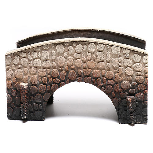 Bridge in cork, arched, for nativities 16x25x11cm 5