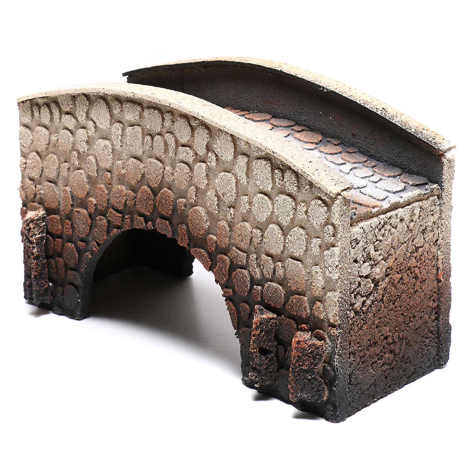 Puente belén corcho arqueado 16x25x11 cm 4