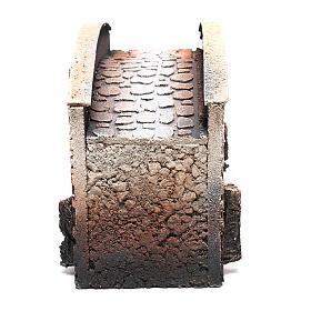 Pont arqué crèche liège 16x25x11cm s4