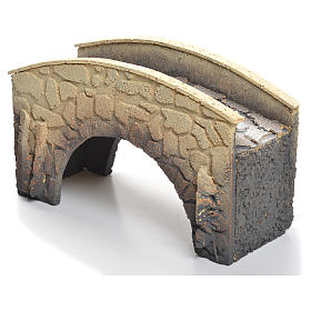 Ponte presepe sughero arcuato 16x25x11 cm s3