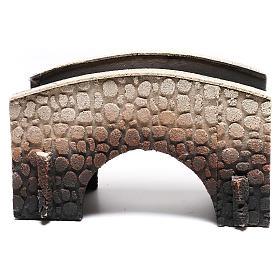 Ponte presepe sughero arcuato 16x25x11 cm s5