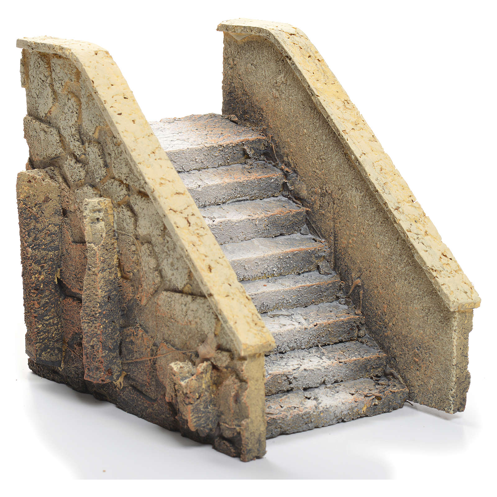 nativity scene stairs cork 14x12x11 cm 4