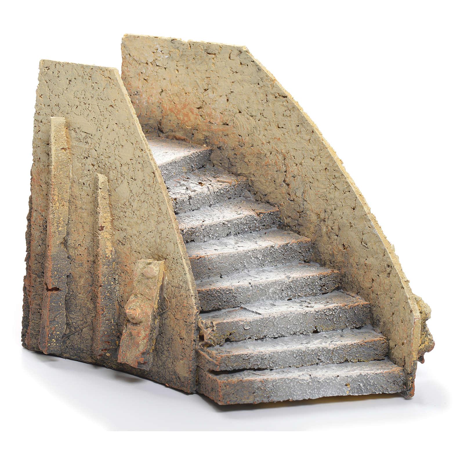 Escalier courbé crèche liège 13x18x11cm 4