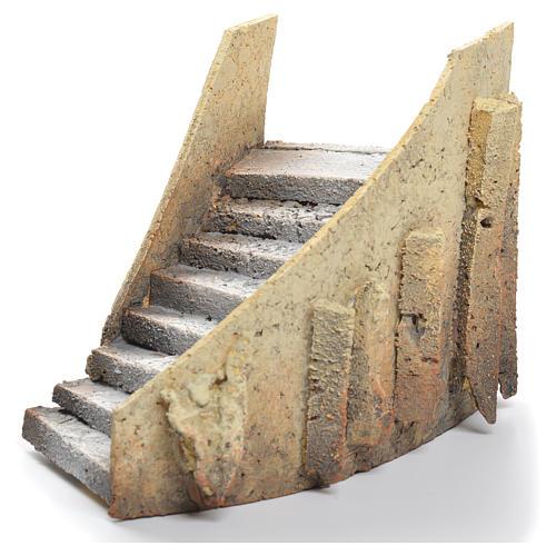 Escalier courbé crèche liège 13x18x11cm 2
