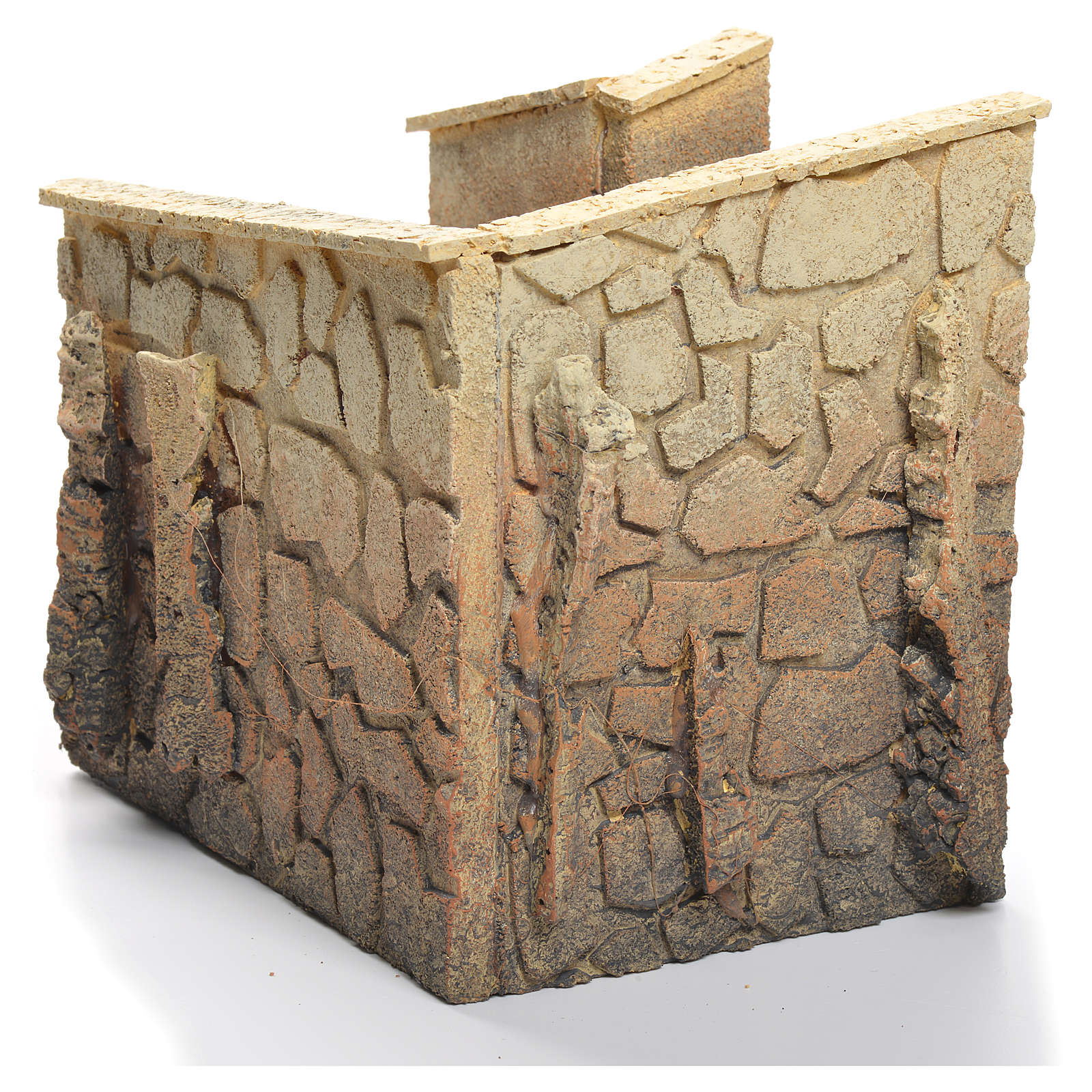 Curved street for nativity village measuring 15x17x13cm 4