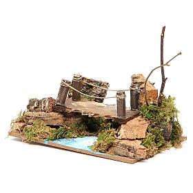 Brücke über Flussstück, 8x15x10 cm, sortiert s2