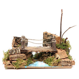 Bridge on river, assorted models for nativities 8x15x10cm s1