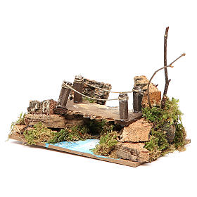 Bridge on river, assorted models for nativities 8x15x10cm s2