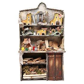 Nativity artist stall, miniature for nativities measuring 40x24x8.5cm s1
