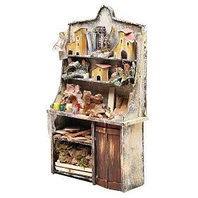 Nativity artist stall, miniature for nativities measuring 40x24x8.5cm s2