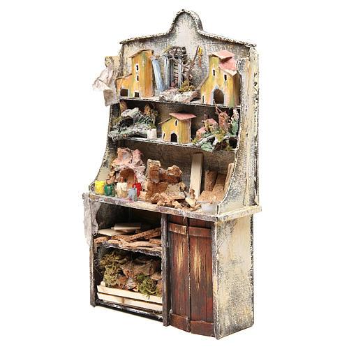 Nativity artist stall, miniature for nativities measuring 40x24x8.5cm 2