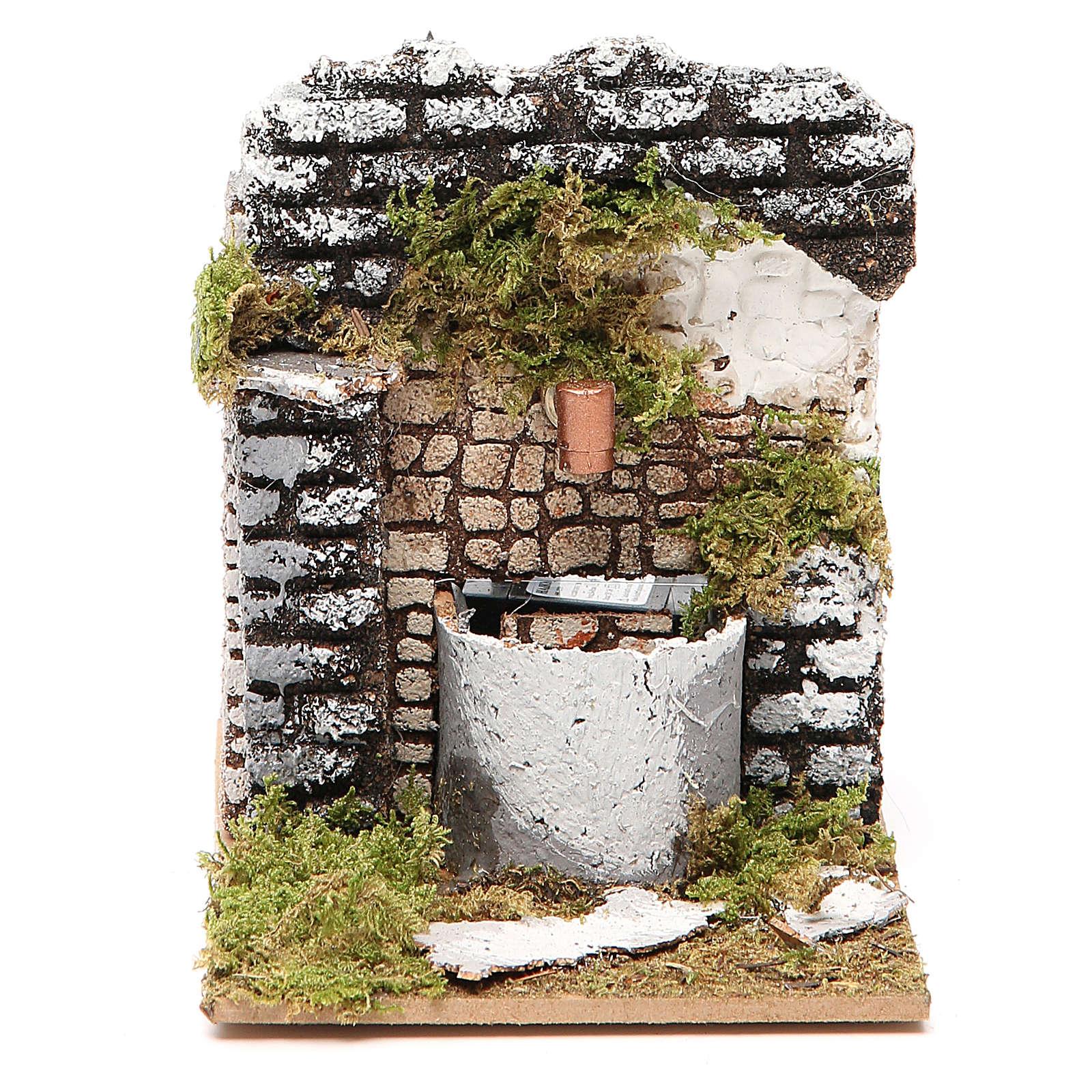 Fuente belén madera y corcho 12x15x10 cm modelos surtidos 4