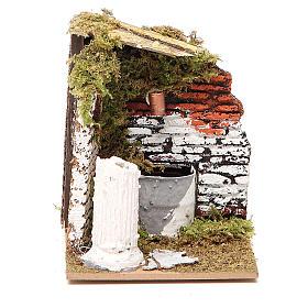Fuente belén madera y corcho 12x15x10 cm modelos surtidos s5