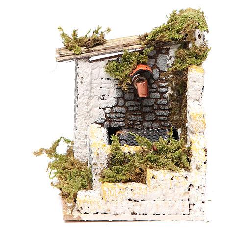 Fuente belén madera y corcho 12x15x10 cm modelos surtidos 6