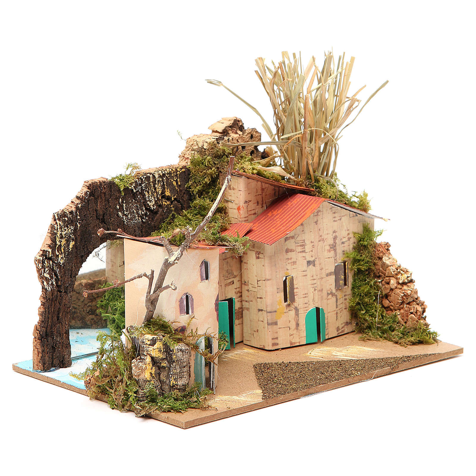 Setting for nativities with mirror measuring 15x20x14cm, assorted models 4