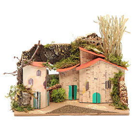 Setting for nativities with mirror measuring 15x20x14cm, assorted models s1