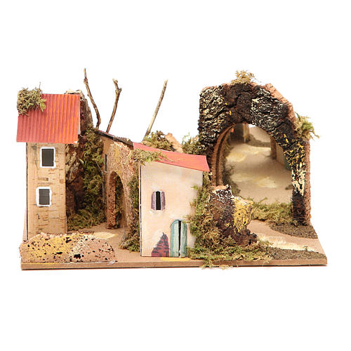 Setting for nativities with mirror measuring 15x20x14cm, assorted models 5