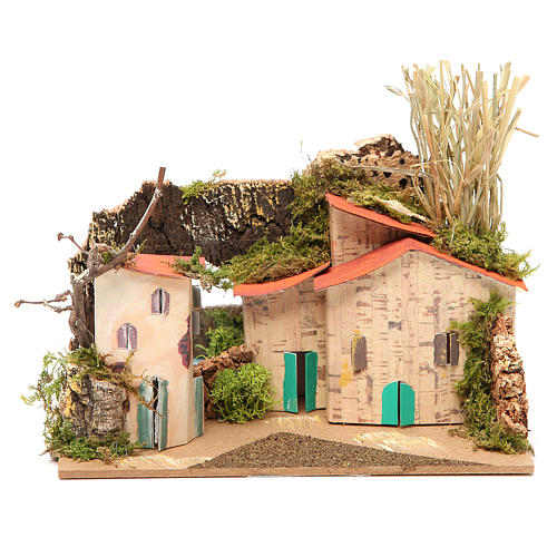 Setting for nativities with mirror measuring 15x20x14cm, assorted models 1