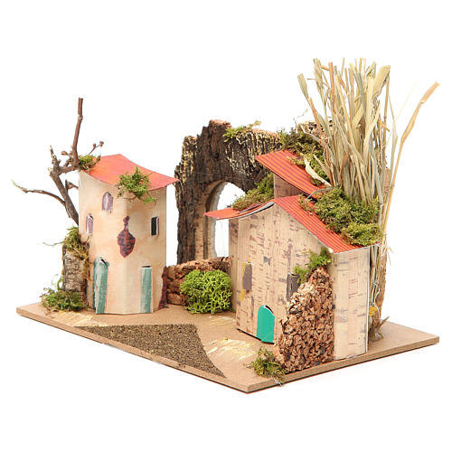 Setting for nativities with mirror measuring 15x20x14cm, assorted models 2