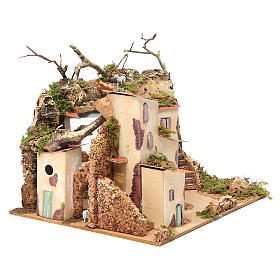 Setting for nativities with mirror measuring 23x24x21cm s3