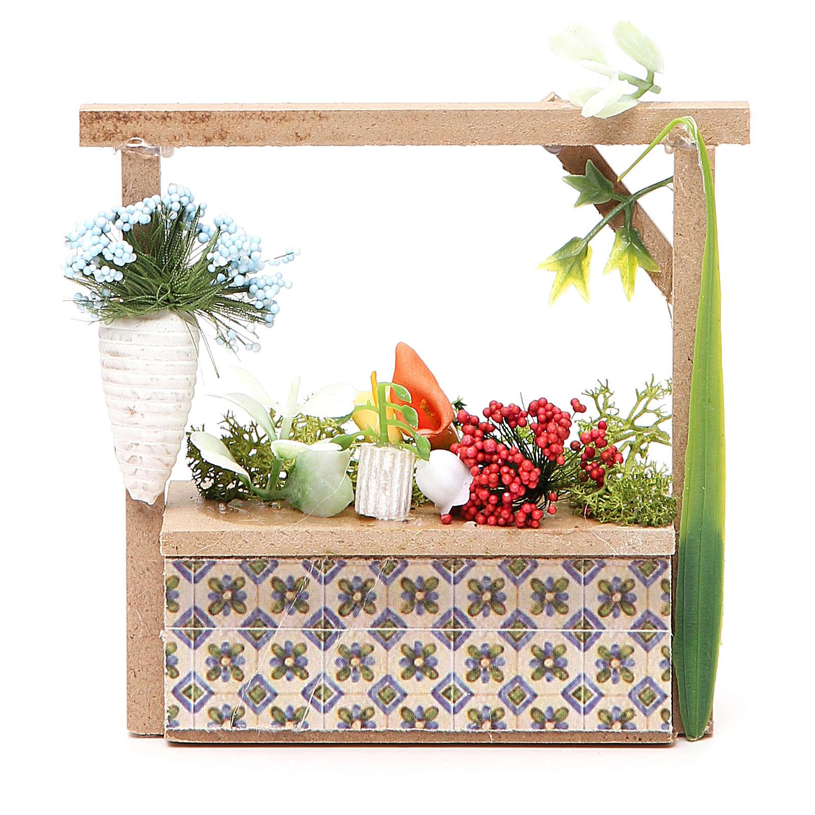 Banchetto presepe fiorista 10,5x11x4 cm 4