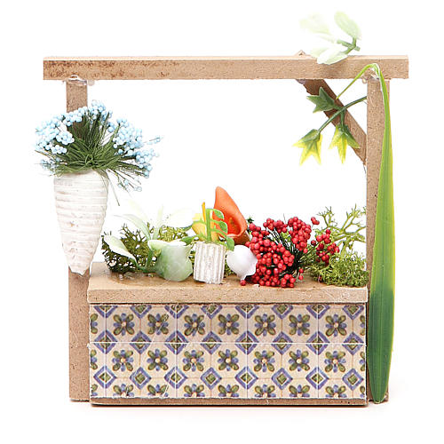 Banchetto presepe fiorista 10,5x11x4 cm 1