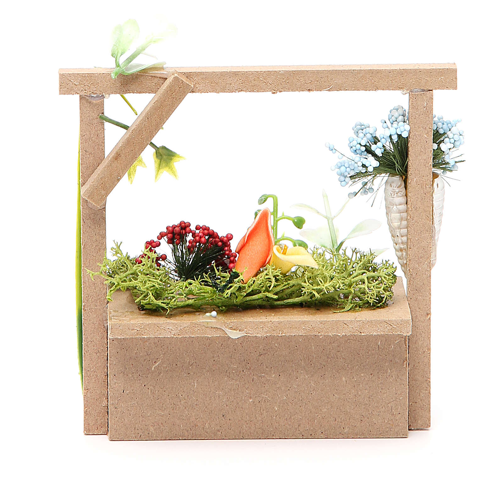 Florist stall for nativities measuring 10.5x11x4cm 4